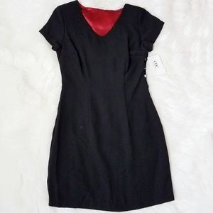 CDC Caren Desiree Company Black Shift Dress Vneck
